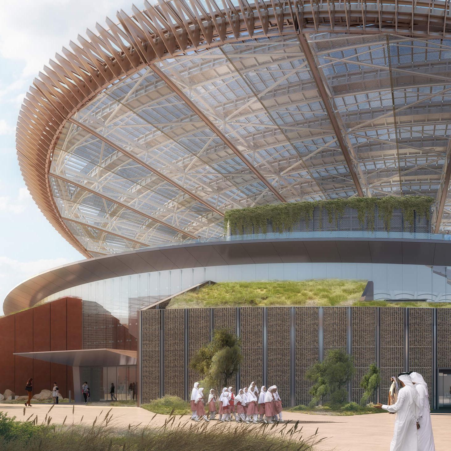 the Dubai Expo 2020 - Sustainability Pavilion 1 - square